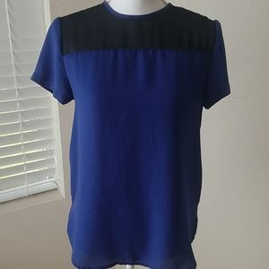 Cute Blue and Black Blouse